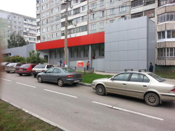 Фасад магазина Пятёрочка из композита